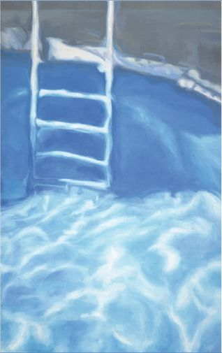 Chema Cobo. OUT OF THE BLUE II (Capitalismo popular). 2008. Oil on canvas. 190 x 120 cm.