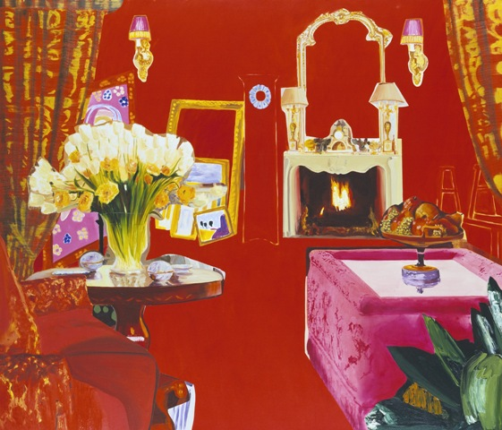 Dexter Dalwood. DIANA VREELAND. 2003. Oil on canvas. 173 x 203 cm. Collection of Ninah and Michael Lynne.