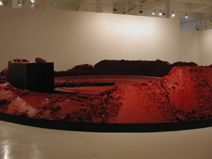 "Anish Kapoor. ""My Red Homeland"" (detalle). 2003."