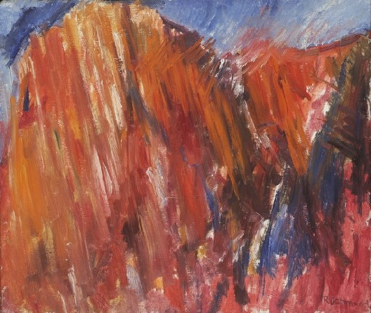 "Miles Richmond. "" Mountains near Montejaque"". 1960s. Oil on canvas. 65 x 76 cm."
