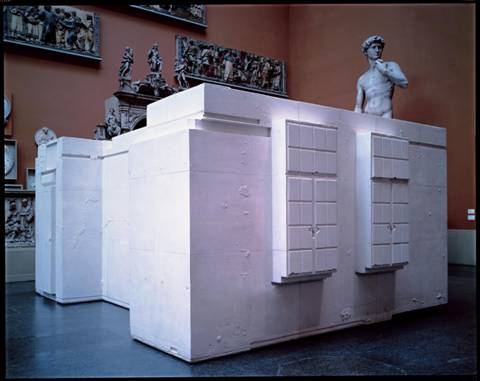 "Rachel Whiteread. ""Untitled (Room 101)"". 2003. 300 x 500 x 643 cm."